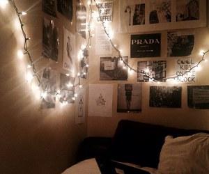 lights, room, and love image