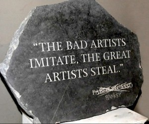 BANKSY and quote image