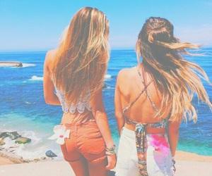 summer, girls, and beach image
