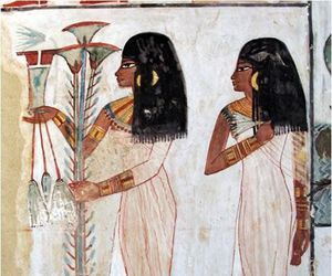 egypt, lady, and tomb image