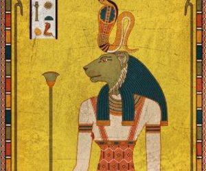 egyptian, goddess, and lioness image