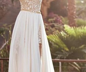 dress, Prom, and white image