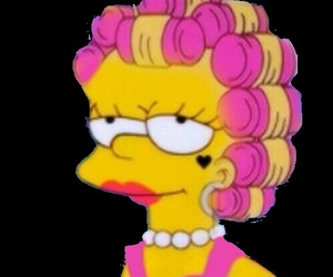marina and the diamonds, lisa simpson, and the simpsons image