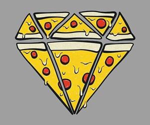 pizza, diamond, and food image