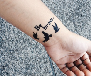 brave, fighter, and henna image