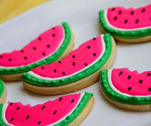 watermelon, food, and Cookies image