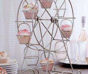 cupcake, pink, and ferris wheel image