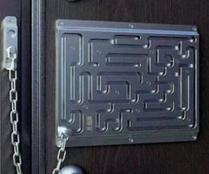 lock, funny, and door image