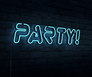 party, neon, and light image
