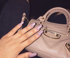 nails, bag, and luxury image
