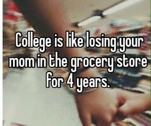 college, real life, and university image