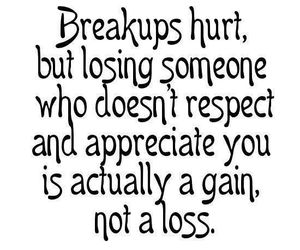 quotes, breakup, and gain image