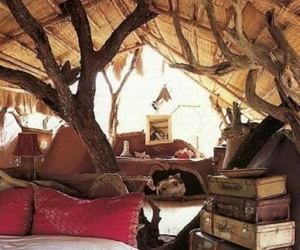 tree, book, and bedroom image