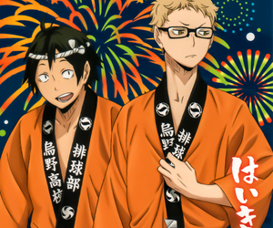 anime, kei tsukishima, and tadashi yamaguchi image