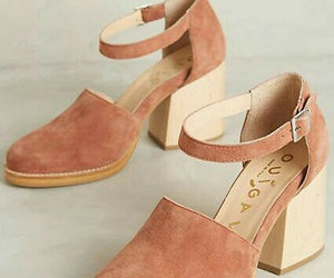 aesthetic, velvet, and block heel image