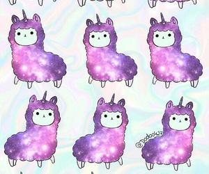 alpaca, galaxy, and pattern image