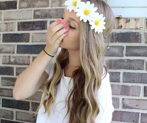 flowers, tumblr, and hair image