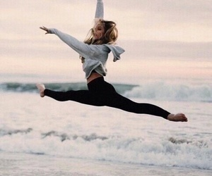 dance, beach, and sea image