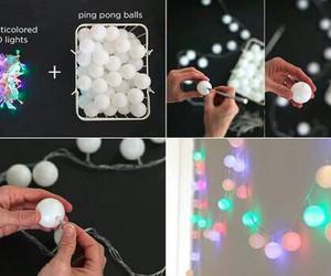 diy, light, and ball image