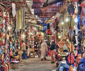 morocco, market, and souk image