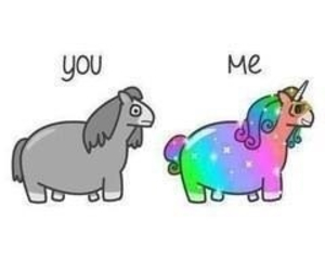 unicorn, me, and you image