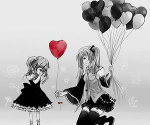 vocaloid, balloons, and hatsune miku image