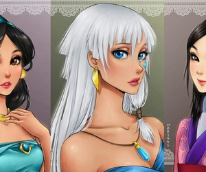 anime, princess, and disney image