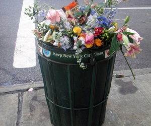 flowers, grunge, and trash image