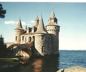 castle, sea, and ocean image