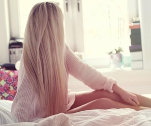 blond hair, hair, and girl image