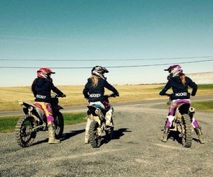 best friends, girls, and motocross image