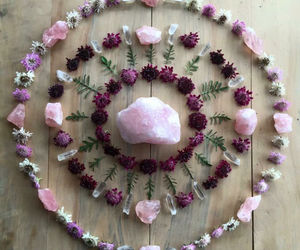 flowers, crystal, and pink image