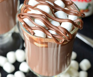 nutella, chocolate, and marshmallow image