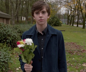 norman bates, bates motel, and freddie highmore image