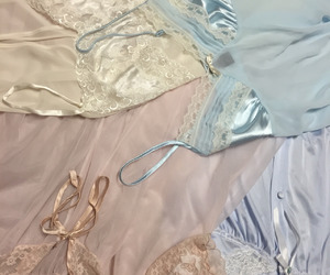 aesthetic, lingerie, and pastel image
