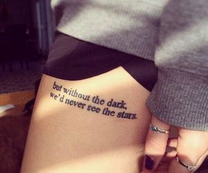 quote, tattoo, and legtattoo image