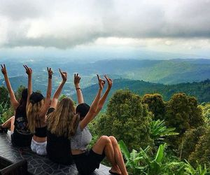 friends, girl, and bali image