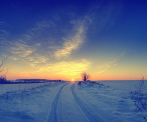 clouds, snow, and winter image