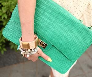 fashion, bag, and green image