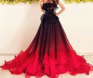 dress, red, and black image