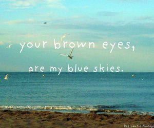 beach, blue, and brown eyes image