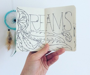 caligraphy and dreamcatcher image