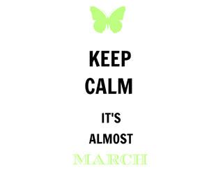 keep calm, month, and butterfly image