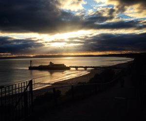 sunset and bournemouth image