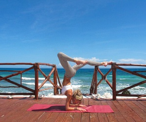girl, yoga, and inspiration image