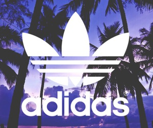 adidas, Logo, and purple image