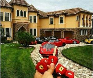 ferrari, cars, and house image