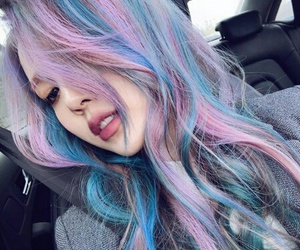 hair, pony, and ulzzang image