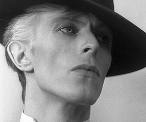 black and white, david bowie, and hat image
