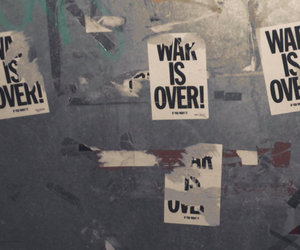 john lennon, war is over, and sticker image